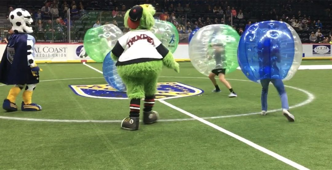 Winter 2018 highlight. Bubble Soccer Club returns for the 2nd year in a row at San Diego Sockers Halftime!