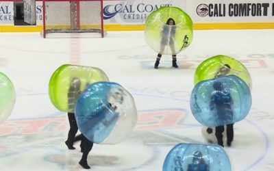 Bubble Soccer Club back for the 2nd year in a row at San Diego Gulls Intermission on Ice in Winter 2018!